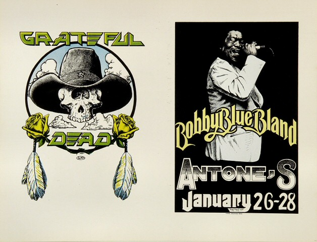 """Bobby """"Blue"""" Bland Proof from Antone's on 26 Jan 78: 8 1/2"""" x 11"""""""