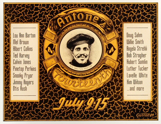"""Lou Ann Barton Poster from Antone's on 09 Jul 89: 12"""" X 15 1/2"""""""