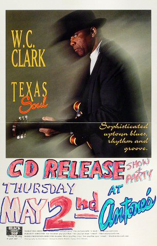 """W.C. Clark Poster from Antone's on 02 May 96: 11"""" x 17"""""""