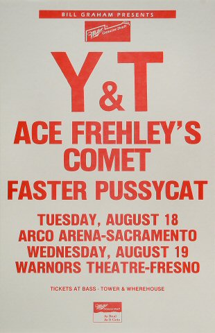 "Y&T Poster from Arco Arena on 18 Aug 87: 11"" x 17"""