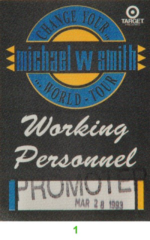 Michael W. Smith Backstage Pass from Arco Arena on 28 Mar 93: Pass 1