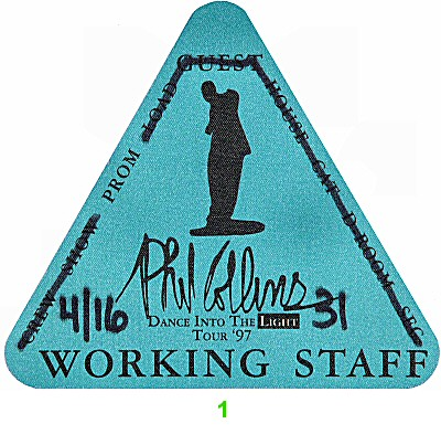 Phil Collins Backstage Pass from Arco Arena on 16 Apr 97: Pass 1