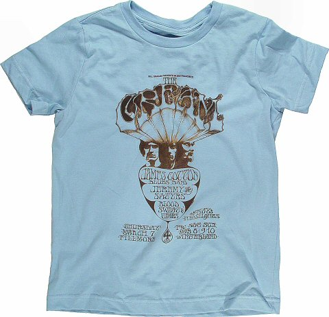 Cream Kid's Retro T-Shirt from Fillmore Auditorium on 07 Mar 68: Kid 12