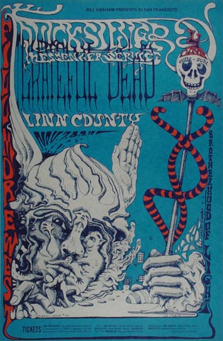 "Quicksilver Messenger Service Handbill from Fillmore West on 09 Nov 68: 4 11/16"" x 7"""