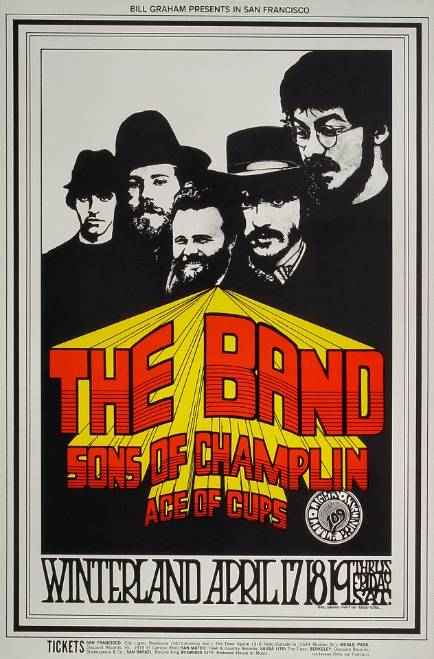 "The Band Poster from Winterland on 17 Apr 69: 21 1/2"" x 32 1/2"""