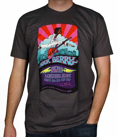 Chuck Berry Men's Retro T-Shirt from Fillmore West on 25 Sep 69: Small
