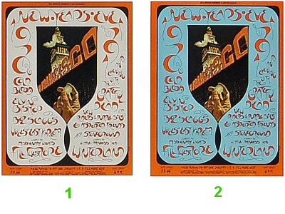 Cold Blood 1970s Ticket from Fillmore West on 31 Dec 70: Complete Set