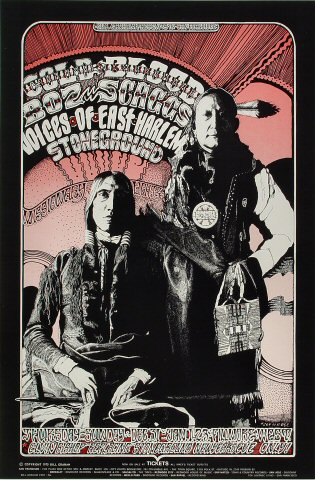 "Cold Blood Poster from Fillmore West on 31 Dec 70: 13 7/8"" x 21 15/16"""