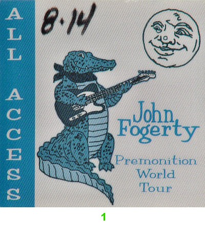 John Fogerty Backstage Pass from Bill Graham Civic Auditorium on 14 Aug 98: Pass 1