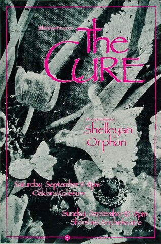 "The Cure Poster from Oakland Coliseum Arena on 09 Sep 89: 13"" x 19 1/2"""