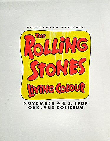 The Rolling Stones Pelon from Oakland Coliseum Stadium on 04 Nov 89: Cloth