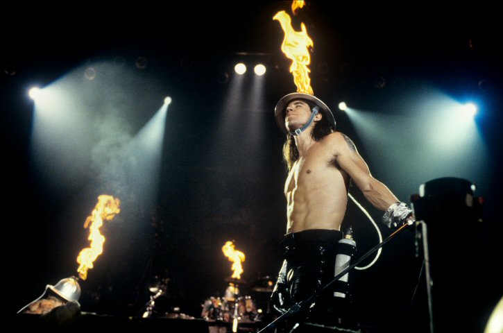 Anthony Kiedis BG Archives Print from Cow Palace on 31 Dec 91: 16x20 C-Print