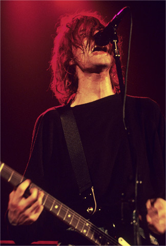 Kurt Cobain BG Archives Print from Cow Palace on 31 Dec 91: 16x20 C-Print
