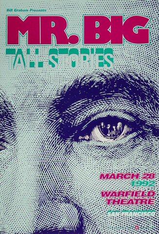 "Mr. Big Poster from Warfield Theatre on 28 Mar 92: 13"" x 19"""