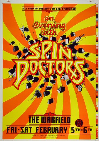 "Spin Doctors Proof from Warfield Theatre on 05 Feb 93: 14"" x 20"""