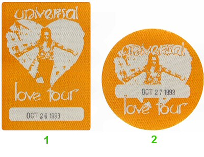 Lenny Kravitz Backstage Pass from San Jose State Event Center on 26 Oct 93: Pass 1