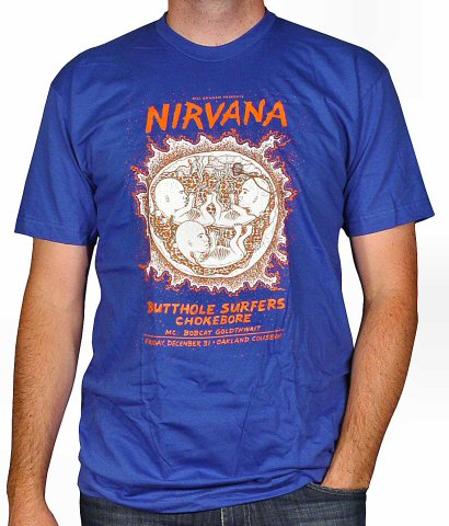 Nirvana Men's Retro T-Shirt from Oakland Coliseum Arena on 31 Dec 93: Small