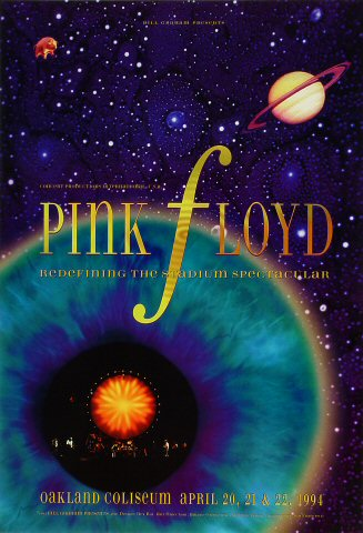 "Pink Floyd Poster from Oakland Coliseum Stadium on 20 Apr 94: 13"" x 19"""