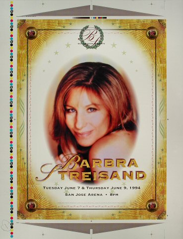 "Barbra Streisand Proof from San Jose Arena on 07 Jun 94: 20"" x 26"""