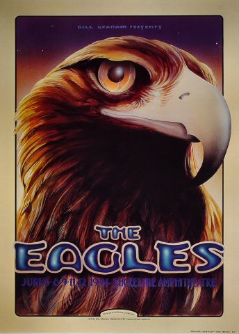 "The Eagles Poster from Shoreline Amphitheatre on 06 Jun 94: 21"" x 29"""