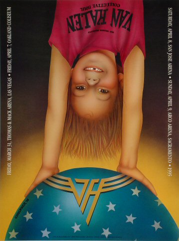 Van Halen Poster from Thomas &amp;amp; Mack Center on 31 Mar 95: 18&quot; x 24&quot;