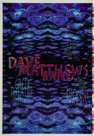 "Dave Matthews Band Proof from Greek Theatre on 11 Aug 95: 14"" x 20"""