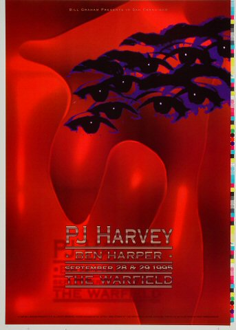 "PJ Harvey Proof from Warfield Theatre on 28 Sep 95: 14"" x 19 1/2"""
