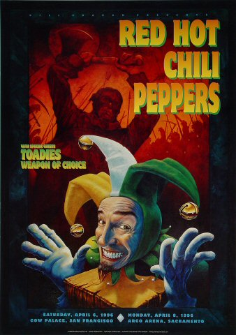 "Red Hot Chili Peppers Poster from Cow Palace on 06 Apr 96: 20"" x 28 1/4"""