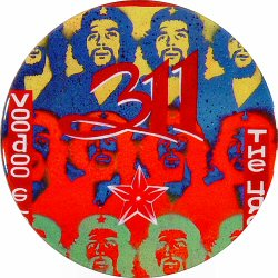 311 Retro Pin from Warfield Theatre on 21 Jun 96: 2 1/4&quot; x 2 1/4&quot; Pin