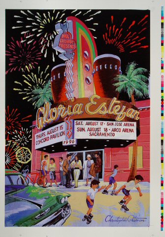 "Gloria Estefan Proof from Concord Pavilion on 15 Aug 96: 14"" x 20"""
