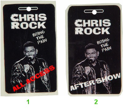 Chris Rock Laminate from Arena Theatre on 09 Aug 96: Laminate 2