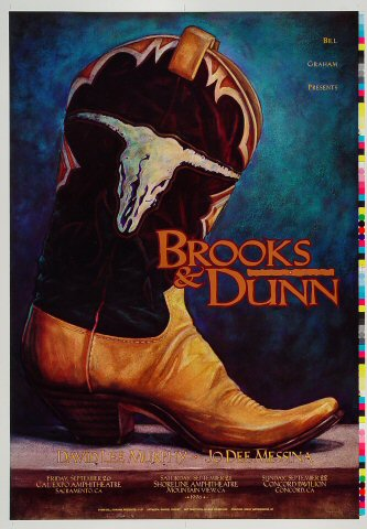 "Brooks & Dunn Proof from Cal Expo Amphitheater on 20 Sep 96: 14"" x 20"""