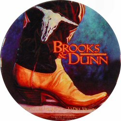 "Brooks & Dunn Retro Pin from Cal Expo Amphitheater on 20 Sep 96: 2 1/4"" x 2 1/4"" Pin"