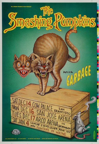 The Smashing Pumpkins Proof from Cow Palace on 14 Dec 96: 14&quot; x 20&quot;