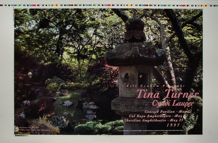 "Tina Turner Proof from Concord Pavilion on 21 May 97: 23"" x 35"""