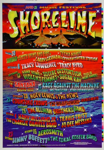 "Sinbad Proof from Shoreline Amphitheatre on 30 Aug 97: 14"" x 20"""