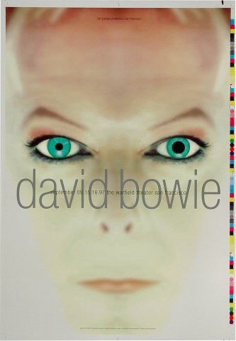 "David Bowie Proof from Warfield Theatre on 09 Sep 97: 14"" x 20"""