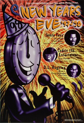 "Jamie Foxx Poster from Paramount Theatre on 31 Dec 97: 13"" x 19"""