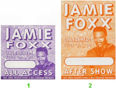 Jamie Foxx Backstage Pass  : Pass 1