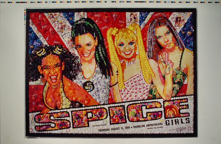 "Spice Girls Proof from Shoreline Amphitheatre on 13 Aug 98: 23"" x 38"""