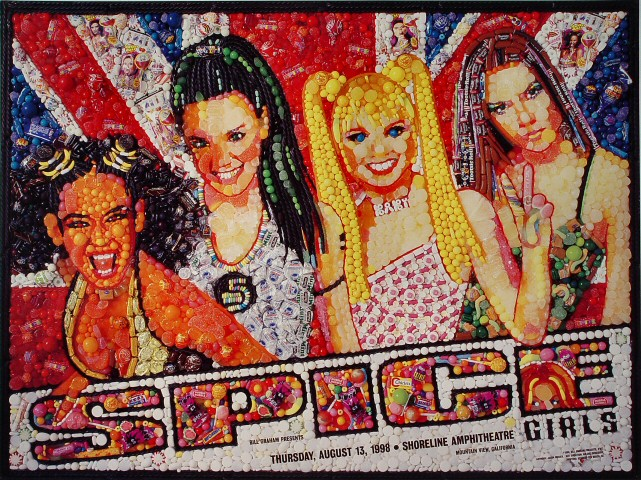 "Spice Girls Poster from Shoreline Amphitheatre on 13 Aug 98: 22"" x 29 1/4"""