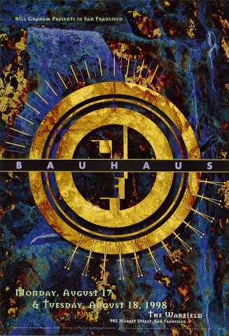 "Bauhaus Poster from Warfield Theatre on 17 Aug 98: 13"" x 19"""