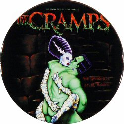 "The Cramps Retro Pin from Warfield Theatre on 31 Oct 98: 1"" x 1"" Pin"