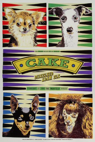 "Cake Poster from Warfield Theatre on 17 Feb 99: 13"" x 19"""