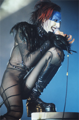 Marilyn Manson BG Archives Print from Cow Palace on 10 Mar 99: 16x20 C-Print