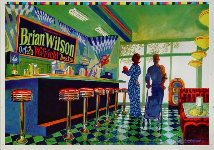 """Brian Wilson Proof from Warfield Theatre on 20 Oct 99: 14"""" x 20"""""""