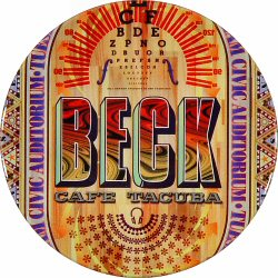 "Beck Retro Pin from Bill Graham Civic Auditorium on 02 May 00: 1"" x 1"" Pin"
