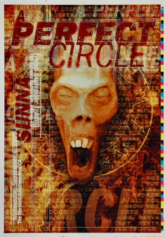 "A Perfect Circle Proof from Fillmore Denver on 01 Sep 00: 14"" x 20"""