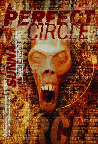 "A Perfect Circle Poster from Fillmore Denver on 01 Sep 00: 13"" x 19"""