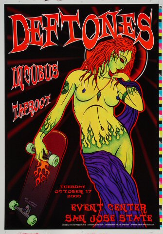 "Deftones Proof from San Jose State Event Center on 17 Oct 00: 14"" x 20"""